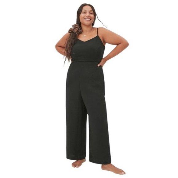 NWT Anthropologie Maeve Magdalena Black Jumpsuit